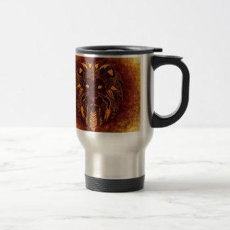 Lion wild animal abstract travel mug