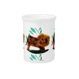 Lion Wild Animal Art Beverage Pitcher