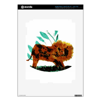 Lion Wild Animal Art Skins For iPad 3