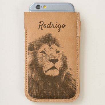 Lion Wild Animal King Jungle Cool Looking Name Men iPhone 6/6S Case
