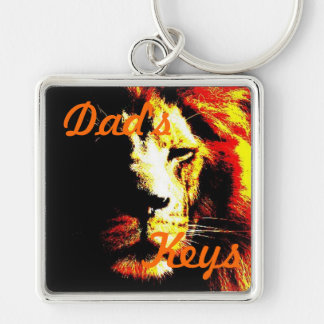 Lion wildlife picture original big cat design keychain