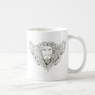 Lion ~ Winged Lions Customize Gift Template Classic White Coffee Mug