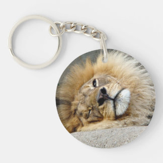Lion Wink Double sided Keychain