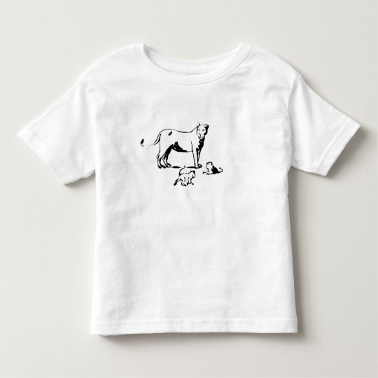 Lion with Cubs Toddler T-shirt