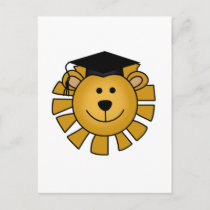 Lion with Graduation Cap Tshirts and Gifts Announcement Postcard