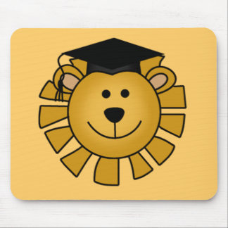 Lion with Graduation Cap Tshirts and Gifts Mouse Pad