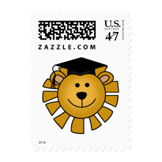 Lion with Graduation Cap Tshirts and Gifts Postage Stamp