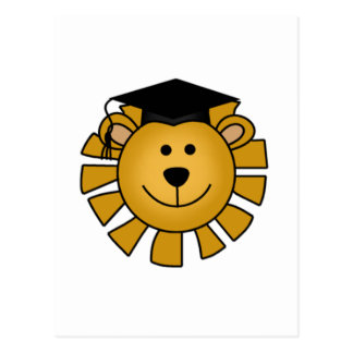 Lion with Graduation Cap Tshirts and Gifts Postcard