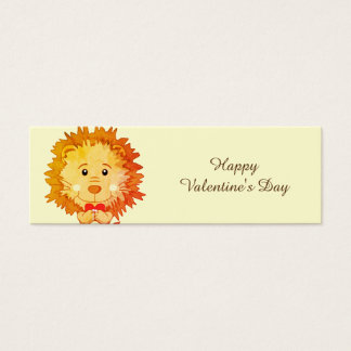 Lion with heart Bookmark Mini Business Card