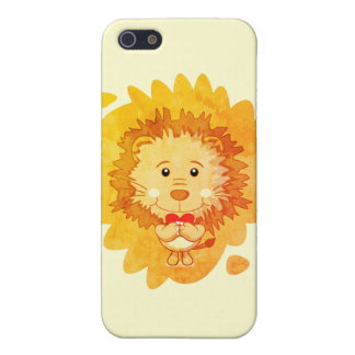 Lion with heart iPhone 5 Case
