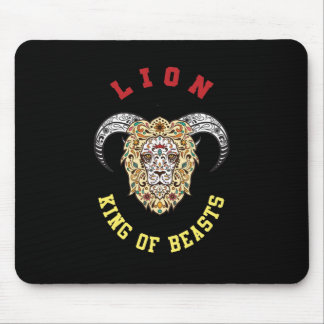 Lion With Horns Design Mouse Pad