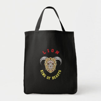 Lion With Horns Design Tote Bag
