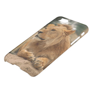 Lion with punk hair-style iPhone 7 Case