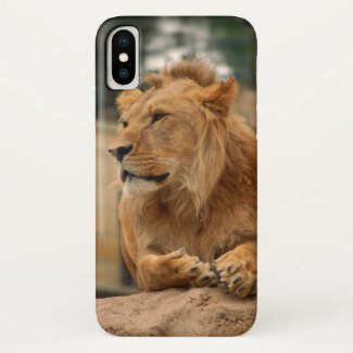 Lion with punk hair-style iPhone x case