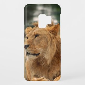 Lion with punk hair styles Case-Mate samsung galaxy s9 case