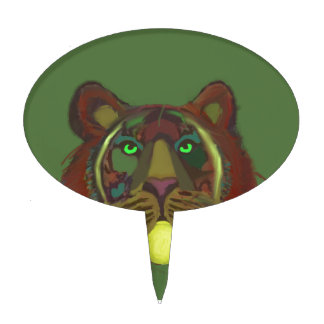Lion with tennis ball cake topper