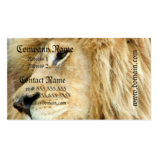 Lion with Thick Mane Business Cards