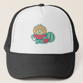 Lion with Watermelon Tshirts and Gifts Trucker Hat