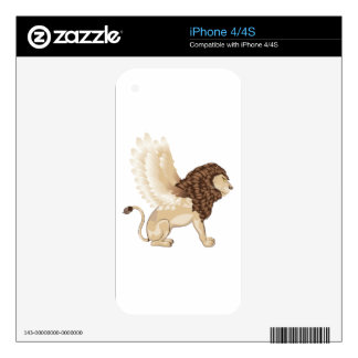 Lion with Wings Cartoon Decals For iPhone 4S