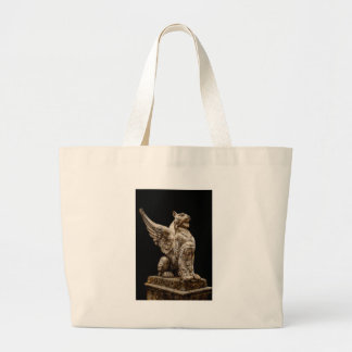 Lion With Wings Large Tote Bag