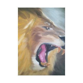 Lion- Wrapped Canvas