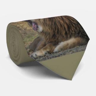 Lion Yawn Tie-Necktie yawn lion Neck Tie
