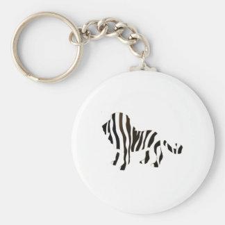 Lion Zebra Mash Up Basic Round Button Keychain