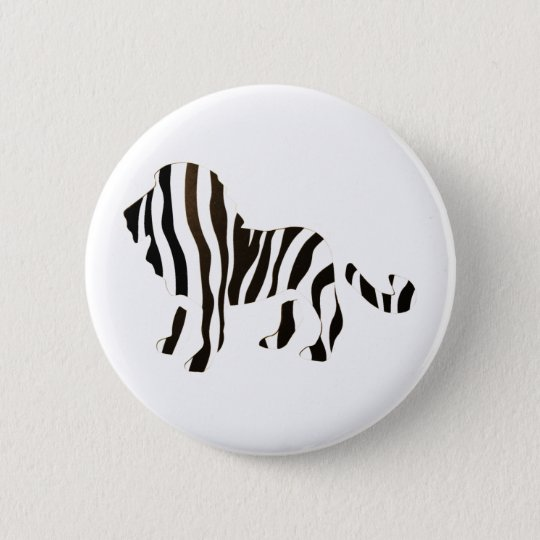 Lion Zebra Mash Up Pinback Button