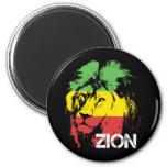 Lion Zion 2 Inch Round Magnet