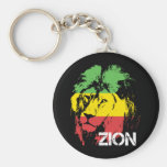 Lion Zion Basic Round Button Keychain