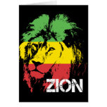 Lion Zion Greeting Card