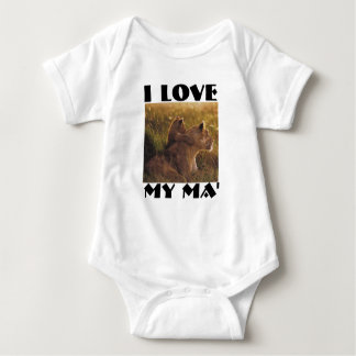 lionandbaby, i love, my Ma' Infant Creeper