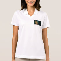 LionBlueEyes Watercolor Polo Shirt