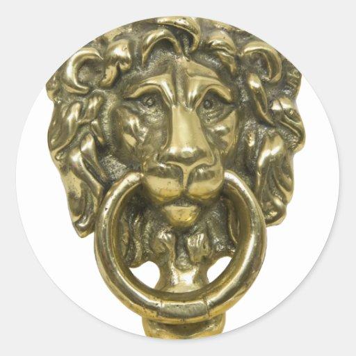 LionDoorKnocker072509 Etiqueta
