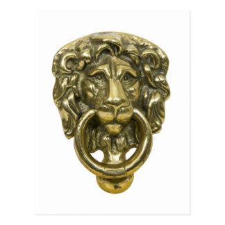 LionDoorKnocker072509 Tarjetas Postales