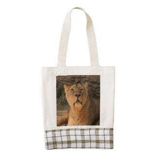 lioness 215A2 Zazzle HEART Tote Bag