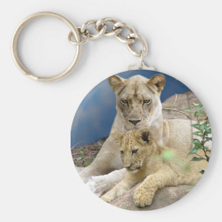 Lioness and Cub Keychain