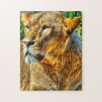 Lioness Big Cats. Jigsaw Puzzle
