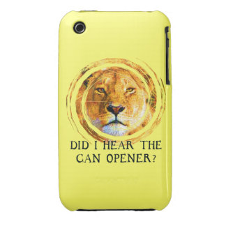 LIONESS ... CAN OPENER iPhone 3 Case-Mate Case