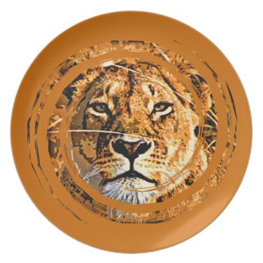 LIONESS FACE Plate