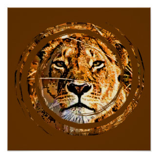 LIONESS FACE Poster