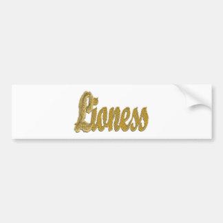 Lioness - Furry Text Bumper Sticker