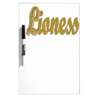 Lioness - Furry Text Dry Erase Whiteboard