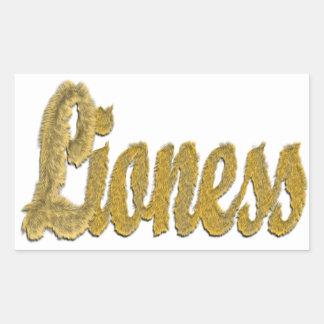 Lioness - Furry Text Rectangular Sticker