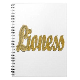 Lioness - Furry Text Spiral Notebook