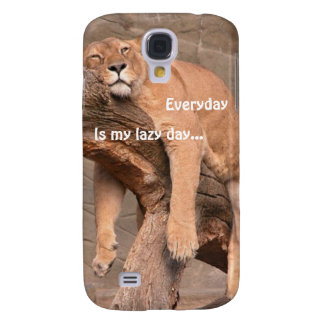 Lioness Lazy Day = Every Day Samsung Galaxy S4 Cas Samsung Galaxy S4 Cover