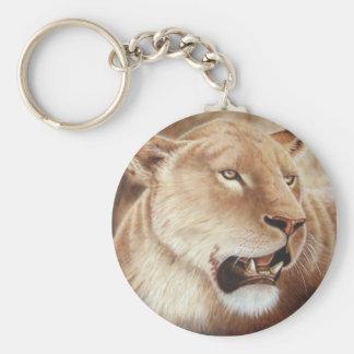 Lioness on her Kill Basic Round Button Keychain