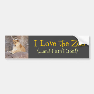 Lioness on the Rocks Bumper Sticker