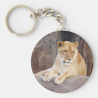 Lioness on the Rocks Keychain