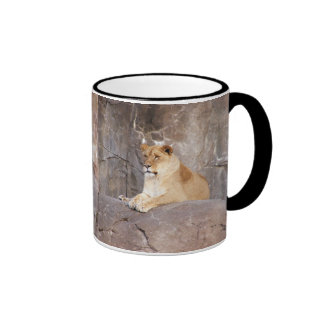 Lioness on the Rocks Mugs